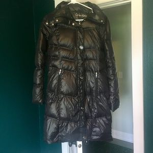 Black Calvin Klein Packable Lightweight Down Coat